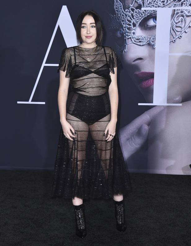"Noah Cyrus arrives at the Los Angeles premiere of ""Fifty Shades Darker"" at The Theatre at Ace Hotel on Thursday, Feb. 2, 2017. (Photo by Jordan Strauss/Invision/AP)"